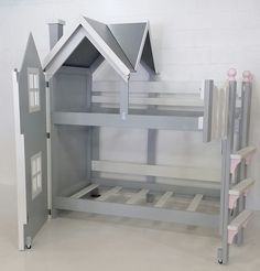 An adorable bunk bed for girls by Imagine THAT! Playhouses & More...