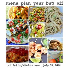 What is Menu Plan Your Butt Off? It's a free, healthy menu plan, new every week, complete with a printable grocery list! Menu planning made simple!