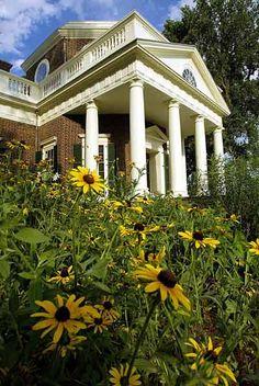 Monticello, Charlottesville, Virginia, 1772 Jeffersonian. Thomas Jefferson's primary residence and plantation