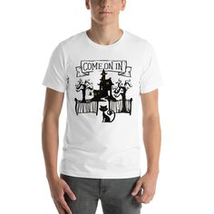 Come on in Haunted Witch house Halloween T-Shirt Unisex – Fashion Outfits Unisex Fashion, New Fashion, Fashion Outfits, Witch House, Halloween Outfits, T Shirt, Mens Tops, Bunk Bed, Clothes