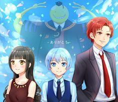 Koro-sensei || Karma Akabane || Nagisa Shiota || Kayano Kaede || Assassination Classroom