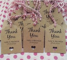 Rustic wedding thank you tags