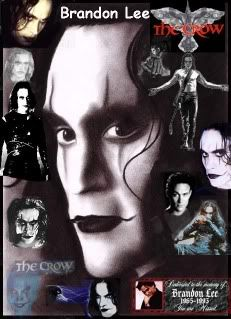Epic pix of Brandon Lee as the Crow