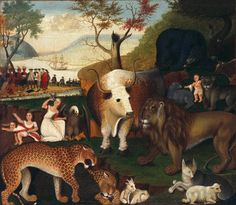 Edward Hicks (1780–1849) The Peaceable Kingdom, 1846 oil on canvas De Young Museum 012 88