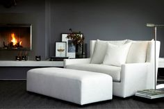 Modular sofa, corner sofa, chaise lounge or daybed. Interior Architecture, Interior And Exterior, Exterior Doors, Cozy Furniture, Interior Styling, Interior Design, Modern Interior, Corner Sofa, Scandinavian Interior