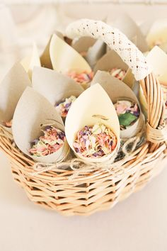 Confetti Cones Basket Petals Rustic Laid Back Tipi Wedding http://helenrussellphotography.co.uk/
