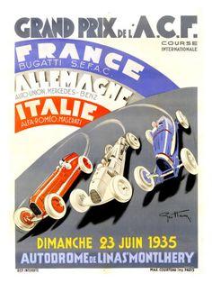 Grand Prix de l'A.C.F., 1935 Giclee-vedos tekijänä Geo Ham AllPosters.fi-sivustossa