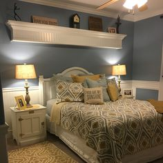 Blue And Yellow Master Bedrooms Decorating Interior Of Your House