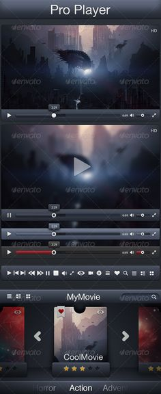 Video Player by Jackalstudio Simple player that you can use as you like ( web, portfolio, app, ) There are three themes for each player and a little movie stor Interface Design, User Interface, 404 Pages, Web Design, One Page Website, Helvetica Neue, Ui Inspiration, Web Portfolio, Website Template