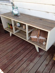 Lowline shabby chic with a mid century twist. Buffet or tv unit, made from recycled timbers $400. More furniture available @ www.facebook.com/groups/VintageReclaimed