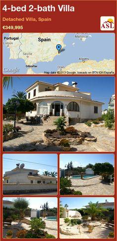 4-bed 2-bath Villa in Detached Villa, Spain ►€349,995 #PropertyForSaleInSpain