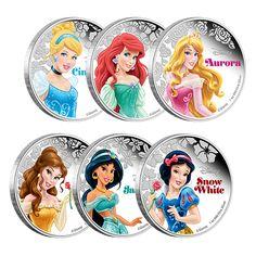 1 oz. Fine Silver 6-Coin Subscription – Disney Princesses (2015)