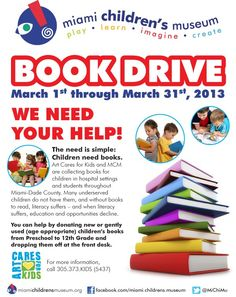 book drive flyer template - Google Search