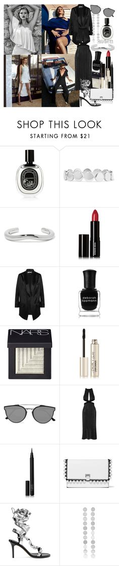"""""""I think we all wander the darkness, chasing the light that catches our eyes, without realizing until much later, the brightest light we know, burns inside"""" by brownish ❤ liked on Polyvore featuring Diptyque, Saskia Diez, Jennifer Fisher, Edward Bess, Givenchy, Deborah Lippmann, NARS Cosmetics, Smith & Cult, RetroSuperFuture and Cushnie Et Ochs"""