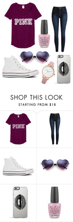 """""""Untitled #44"""" by tkmmmm ❤ liked on Polyvore featuring Converse, Lipsy, OPI and Oasis"""
