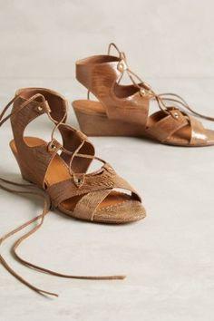 gladiator wedge sandals for summer!