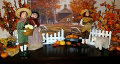 Decorating with the Byers' Choice Caroler® Figurines by Laurie Halan