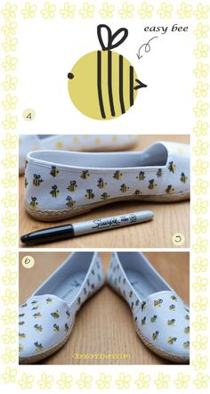 bee! http://todokawaii.com/portada/tutorial-sandalias-abeja/#more-52834