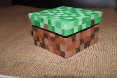 Minecraft Party Favors   Grass Minecraft Trinket/Keepsake/Gift/Party Favor by heartmygeek