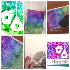 Watercolor lifting with heat embossing
