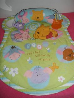 #disney winnie the pooh infant #baby activity play mat w/head rest  from $24.99