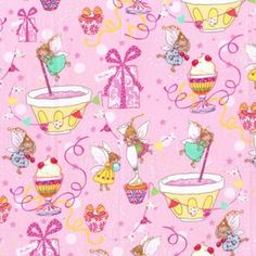 Michael Miller Sugar Fairies Fabric in Orchid