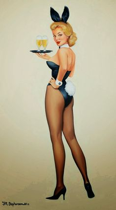 Pin Up Bunny by Fiona Stephenson
