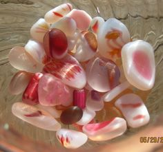 Multi colored sea glass