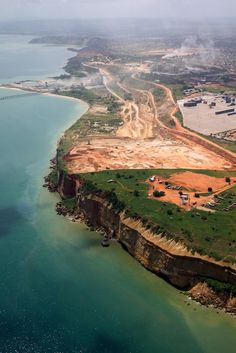 Aerial view of Luanda's shoreline, Angola