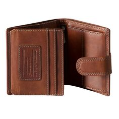 Hand-crafted by Jekyll and Hide Cape Town, this gent's wallet is finished in superb quality full grain leather. • Fully lined in Jekyll & Hide embossed fabric. • 5 card slots. • 1 pouch. • 2 full length note sections. • Press stud fastened coin pocket meshed ID slot. • The item is Presented in a Jekyll & Hide designer gift box.