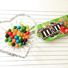 """M&M'S® Crispy are back (been missing from our lives since 2005)! Such a delicious sweet snack for under 200 calories! Have you tried them? I'm in love! …"""