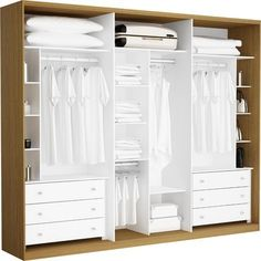 atentar para os cantos em forma de nicho Bedroom Cupboard Designs, Wardrobe Design Bedroom, Bedroom Cupboards, Master Bedroom Closet, Wardrobe Closet, Built In Wardrobe, Closet Storage, Bedroom Storage, Bedroom Decor