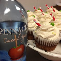 Pinnacle vodka caramel apple boozecake cupcakes