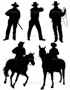 Cowboy Silhouette - People Characters