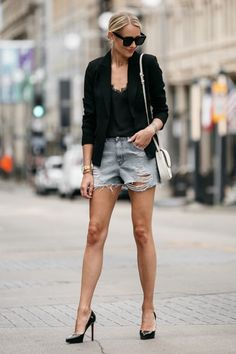 OMG! In love with this outfit! | What to Wear with Denim Cutoffs