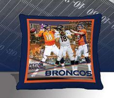Denver Broncos Peyton Manning Biggshots 18 inch Toss Pillow 12P3-120 ...