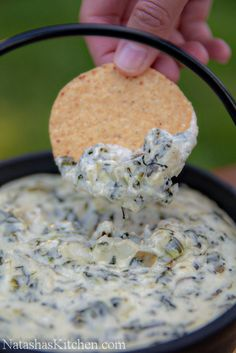 Stupid Easy Spinach Artichoke Dip: Direct link with recipe and directions, and more photos.