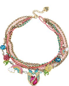 FAIRYLAND CHARMY MULTI ROW NECKLACE MULTI accessories jewelry necklaces fashion