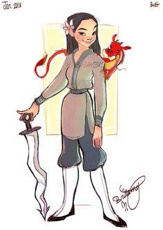 ✧ #characterconcepts ✧ Mulan by Britt315 on deviantART
