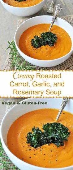 Caramelized roasted carrots, garlic, and rosemary blended into a creamy soup…