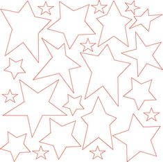 Quilt in the Hoop Stars ITH Machine Embroidery Files