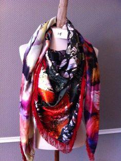 Keet-Lien handmade scarfs made out of satin-silk fabrics. size 225 x 125 cm