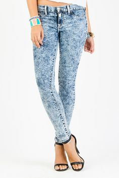Acid Wash Denim Skinnies $24.99