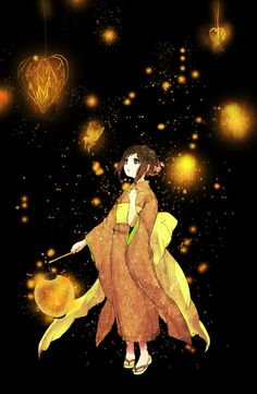 Anime Girl in Japanese Kimono #art #anime #Japanese
