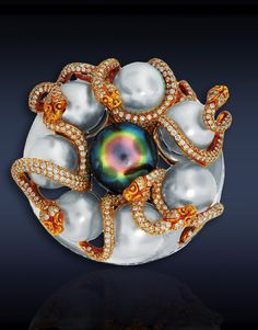 Jacob & Co. Snake pearl cocktail ring...♡