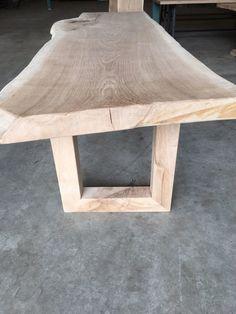 Eikenhouten boomstam tafel, 300 x 95 cm