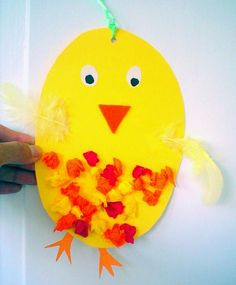 Lustiges Küken - Ostern-basteln - Meine Enkel und ichLustiges Küken - Ostern-basteln - Meine Enkel und ichChicken paper craftGeometric chicken paper craft idea for kids. Easter Crafts For Kids, Toddler Crafts, Preschool Crafts, Diy For Kids, Fun Crafts, Diy And Crafts, Paper Crafts, Spring Crafts, Holiday Crafts