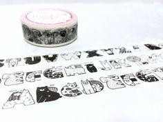 animal alphabet washi tape 7m x 1.5cm nursery by TapesKingdom
