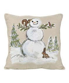 Another great find on #zulily! Snowman Pillow #zulilyfinds I like the painted look.