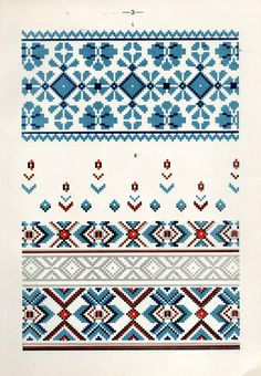 Cross Stitch Borders, Cross Stitch Designs, Cross Stitching, Cross Stitch Patterns, Folk Embroidery, Cross Stitch Embroidery, Embroidery Patterns, Kids Knitting Patterns, Knitting Charts